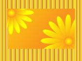 çiçek tebrik — Stok Vektör