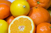 Mandarin, orange, lemon — Stock Photo