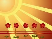 Vector flores — Vector de stock