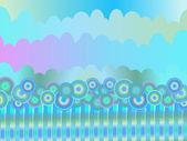 カラフルな青色の背景色 — ストックベクタ