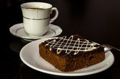 Gâteau au chocolat et café — Photo