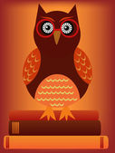 Owl with glasses — Stock Vector