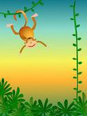 Monkey illustration — Stock Photo