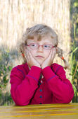 Blond girl with glasses — Stock Photo
