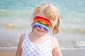 Chica con pintura de la cara — Foto de Stock