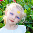 ������, ������: Girl with princess face painting
