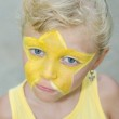 Girl with star face painting — Stock Photo #49755481
