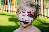 Hallo kitty face painting — Stock Photo
