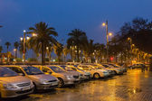 Desember, Barcelona, Rain — Stock Photo
