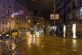 Desember, Barcelona, Rain — Stock Photo