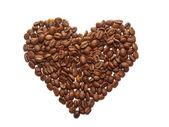 Coffe beans in a shape of heart — Stock fotografie