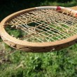 Stock Photo: Old wooden tennis racket