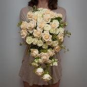 проведение свадьбы слезоточивый падение букет флорист — Стоковое фото