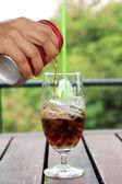 Riense cola de cristal — Foto de Stock