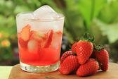 Jugo de refresco de fresa — Foto de Stock
