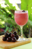 Cherry Milkshake — Stock Photo
