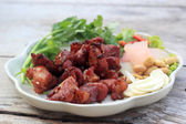 Deep fried Fermented pork rib — Stock Photo