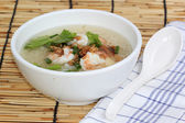 Thai boiled rice with shrimp  — Stock Photo