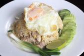 Fried rice with pork — Stock Photo