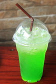 Italian Soda kiwi take home  — Stock fotografie
