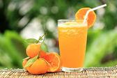 Group of Orange and orange Smoothie — Stockfoto