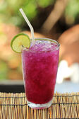 Butterfly pea juice with Lime for drink — Foto de Stock