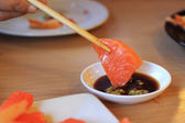Fresh salmon Sashimi — Stockfoto