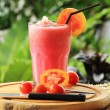Red ripe tomatoes smoothies — Stock Photo
