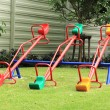 Stock Photo: Colorful seesaw