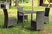 Garden Rattan Furniture — Stock Photo