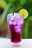 Butterfly pea juice with Lime — Zdjęcie stockowe