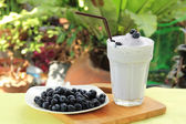 Blueberry milk shake — Stock Photo