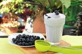 Blueberry milk shake — Stock Photo