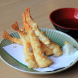 Tempura Shrimps Deep Fried Shrimps with Vegetables — Stock Photo