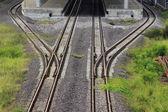 Train line crossing  — Stock Photo