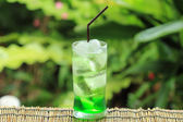 Green fruit soda — Stock Photo