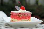 Strawberry Layer cake  — Stock Photo