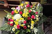 Beautiful flower boats — Stock Photo