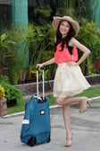 Asian woman prepared the travel — Stock Photo