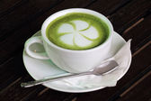 Latte Green Tea — Stock Photo