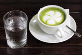 Latte Green Tea — Stockfoto