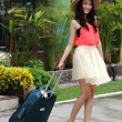 Asian woman prepared the travel — Stock Photo #42041303