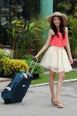 Asian woman prepared the travel — Stock Photo