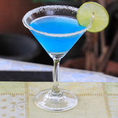 Blue margarita — Stock Photo