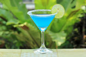 Blue margarita Cocktail  — Stock Photo