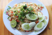 Fried rice with crab meat — Stock Photo