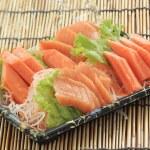 Fresh Salmon seshimi set in the box — Stock Photo #44576957