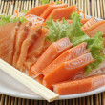Fresh Salmon seshimi set on the plate — Stock Photo #44576971