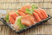 Fresh Salmon seshimi set in the box — Stock Photo