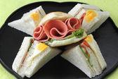 Hamburger and sandwich — Stock Photo